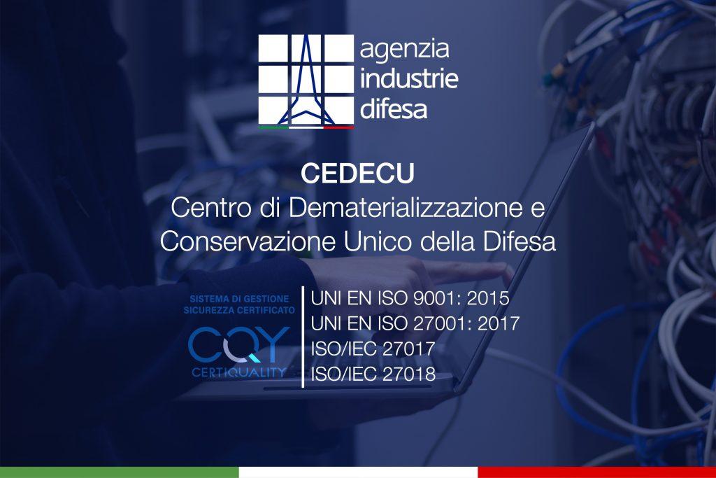Il CE.DE.C.U. di Gaeta ha ottenuto l'estensione a ISO 27107 e ISO 27018 - 1