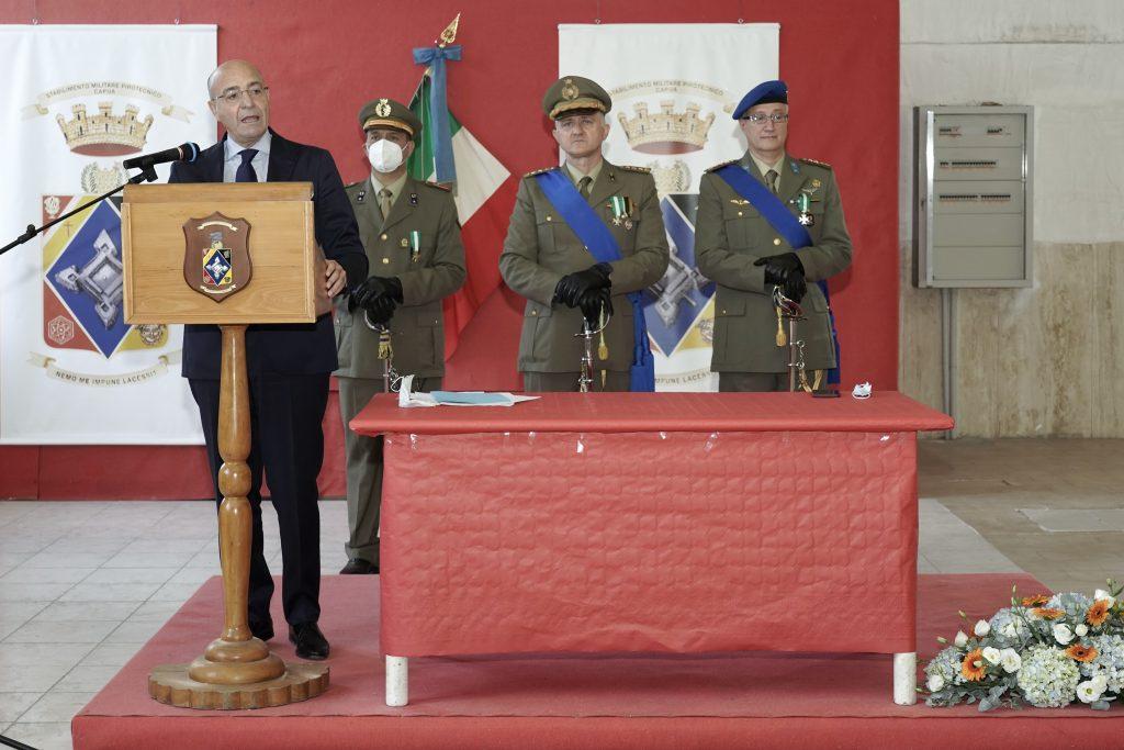 Cambio al vertice dello Stabilimento Militare Pirotecnico di Capua alla presenza del Direttore Generale AID Nicola LATORRE - 1
